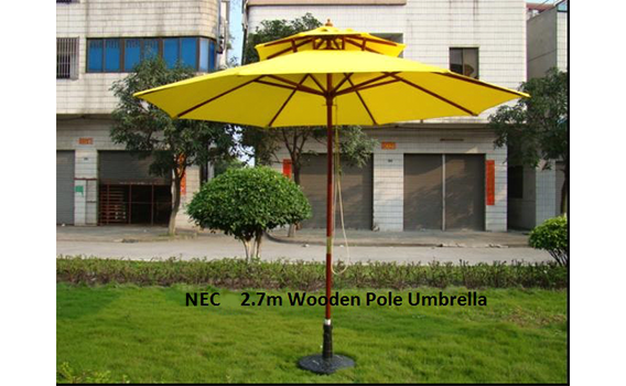12Double-Layer-top-Wooden-Pole-2.5m-Umbrella